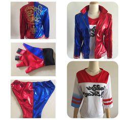 Harley Quinn Costume Joker Cosplay Set Completo Completi di Abbigliamento con Giacca Shorts Gilet per Donna Ragazza