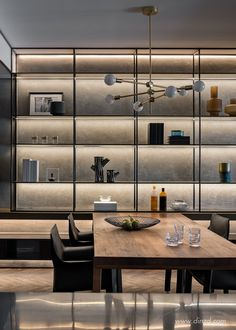 but portrays the emotion more vividly. As One House Design was invited to design Minimalist Interior, Modern Interior Design, Luxury Interior, Interior Architecture, Shelving Design, Shelf Design, Cabinet Design, Home Office Design, House Design