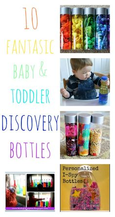 10 fantastic ideas for baby and toddler discover bottles - so great for sensory play (but no mess!)