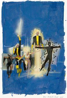 New Mutants #21 by Bill Sienkiewicz