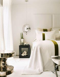 #bedroom #shadesofwhite | Kelly Hoppen | Top Interior Designers