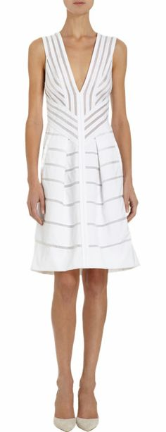 J. Mendel Poplin and Organza Sleeveless Dress at Barneys.com