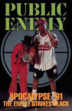 Public Enemy Apocalypse '91 Original 1991 Music Poster 23x35