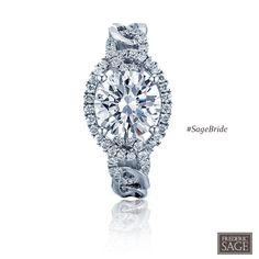 Frederic Sage Bridal Ring Style # RM4402-W #SageBride #fredericsage