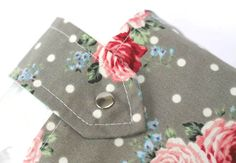 Rose print nappy & wipes case. Who wants to give up their gorgeous handbags for a bulky baby changing bag?