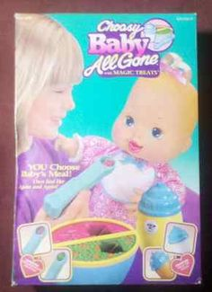 Vintage CHOOSY BABY ALL GONE With Magic Treats Doll Kenner 1995 #childhood #90s