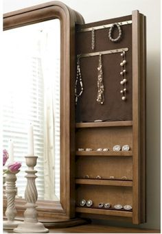 Clever concealed jewelry storage | New Lou Collection by Universal Furniture