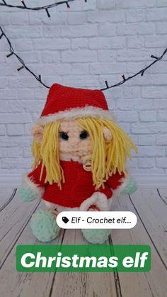 Crochet Animal Patterns, Amigurumi Patterns, Handmade Toys, Etsy Handmade, Popular Crochet, Etsy Business, Christmas Elf, Amigurumi Doll, Stuffed Toys Patterns