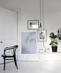Stilrent hem med svarta och vita toner ‹ Dansk inredning och design