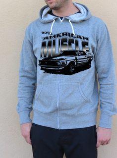 Muscle Car HoodieBoss 302 MustangAmerican Muscle by SpokeNwheelz, $36.95