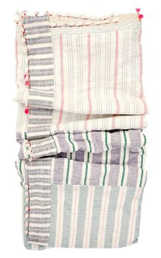 Dhari Bed Blanket in Pastel Madras