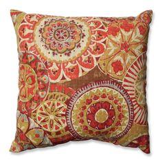 Pillow Perfect Indira Cardinal Throw Pillow - Overstock™ Shopping - Great Deals on Pillow Perfect Throw Pillows