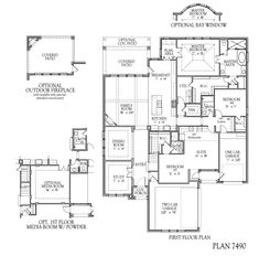 House Plans With Media Room taylor morrison - landry | floor plans | pinterest | living rooms