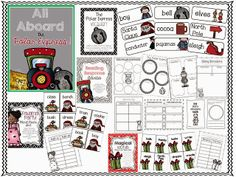 All Aboard the Polar Express...a unit for Little Learners. This unit if full of graphic organizers, vocabulary cards, reading response sheets, writing prompts and 3 literacy centers...all ready to compliment the lovely holiday story! :)