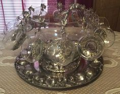 Arthur Court Butterfly Punchbowl Neiman Marcus Exclusive Very Limited Production