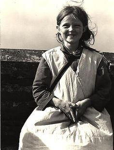 Girl, Western Ireland 1954 by unknown author. Repinned by WI/IE. _____________________________Do feel free to visit us on www.wonderfulirel... for lots more pictures and stories of beautiful Ireland.