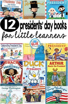 Our 12 favorite Presidents' Day books are perfect for your Presidents' Day lesson plans this February. These are great for preschool, kindergarten, or first grade students. #presidentsday  #preschool #kindergarten