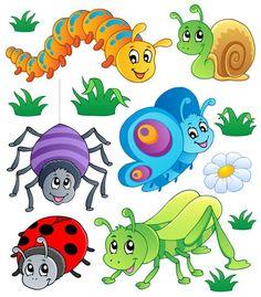 Caterpillars Vector Cartoon Animals: