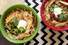 Slow Cooker Chicken Tortilla Soup mad3 skinny
