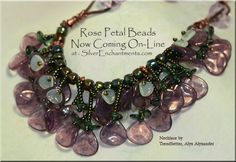 Czech Glass Rose Petal Beads - Check out the Petal Power Pattern available in Bead and Button™ Magazine - Feb 2013