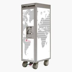 I'm pretty sure one can be acquired via air surplus; but the idea appeals: Air Berlin Ed. Worldmap Trolley now featured on Fab.