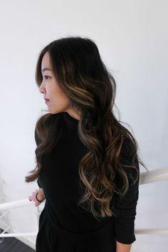 Asian hair balayage highlights bronze chestnut black more asian balayage,. Asian Balayage, Black Balayage, Balayage Hair Blonde, Balayage Highlights, Color Highlights, Black Hair With Highlights, Asian Highlights, Hair Color Asian, Up Dos