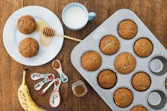 """If you haven't heard of Aussie fitness superstar Kayla Itsines, it's time to get to know her name. This mega-celeb had seemingly overnight success in the fitness world and now has a thriving online community with her own diet and workout plan (and millions of followers). Today she shared a recipe for her """"Healthy Banana Muffins"""" that got me pretty excited (am I the only one who loves muffins?). Curious what Itsines puts in hers? Read on... A photo posted by Kayla Itsines (@kayla_itsines) on…"""