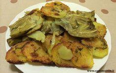 carciofi e patate al forno teglia barese cucina pugliese bari camin vattin foto