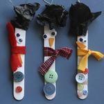Craft Stick Snowman Ornaments