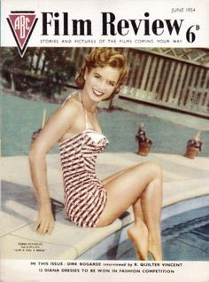 """Debbie Reynolds on the front cover of """"ABC Film Review"""", United Kingdom, June…"""