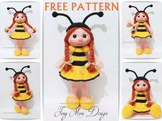 Amigurumi Bee Girl Free Pattern   Tiny Mini Design