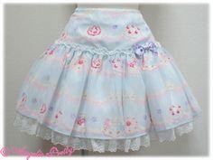 Whip Show Case Skirt - Sax; Angelic Pretty USA