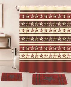 15PC BURGUNDY WESTERN STAR BATHROOM BATH RUG CARPET MATS SHOWER CURTAIN HOOKS   Home & Garden, Bath, Bathmats, Rugs & Toilet Covers   eBay!
