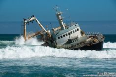 Namibia- Skeleton Coast is full of wrecked ships, been wanting to go there since I was a kid