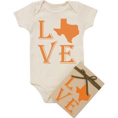 "Organic ""Love Texas"" onesie"