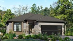 Beaver Homes and Cottages - Bellevue Narrow House Plans, European House Plans, Lake House Plans, Family House Plans, Bungalow Floor Plans, Modern Bungalow House, Beaver Homes And Cottages, Simple Floor Plans, Ranch Style Homes