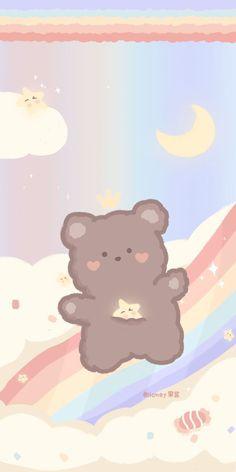 Pastell Wallpaper, Cute Pastel Wallpaper, Soft Wallpaper, Bear Wallpaper, Cute Patterns Wallpaper, Aesthetic Pastel Wallpaper, Cute Anime Wallpaper, Wallpaper Iphone Cute, Galaxy Wallpaper