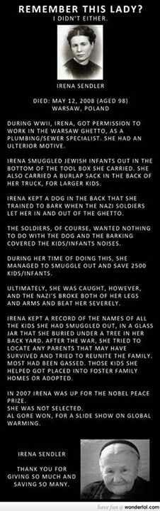 Irena Sendler, a true hero