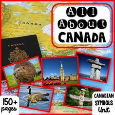 Canada | Canada Theme | Canadian Symbols | Social Studies: All About Canada ~ Canadian Symbols unit has 160 pages of social studies activities to teach your students about Canada and its important symbols! There are 12 Canadian symbols included, such as beavers, maple leaves, the flag, mounties, maple syrup, inukshuks, and more.