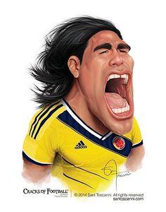 """Sant Toscanni macht diese beeindruckenden Fußballer-Karikaturen. Seine Serie heißt """"Cracks of Football"""" und zeigt uns eine ganze Reihe bekannter Gesichter. Ibrahimovic, Rooney, Ronaldo, Pirlo, Falcao, Ribery, Iniesta, Robben, Neymar und Messi sind dabei. Wenn euch die Motive gefallen, habt ihr Glück, denn bei Society6 werden sie auf verschiedene Dinge gedruckt oder auch als Poster verkauft. Dabei gibt es die Fußballer zum Teil auch in verschiedenen Trikots zur Wahl."""