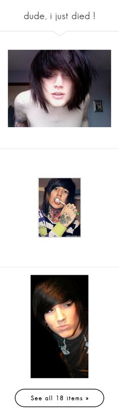 """""""dude, i just died !"""" by megannihart-annon ❤ liked on Polyvore featuring asking alexandria, people, bands, boys, guys, oli sykes, pictures, oliver sykes, bring me the horizon and oli"""