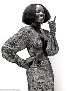Lovely Lupita: For the seventies-inspired spread in United Hemispheres' mag, Nyong'o was o...