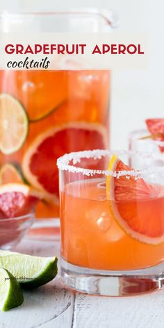 Bright citrus, tequila and aperol all come together to make this fabulous Grapefruit Aperol Cocktail. It's the perfect batch cocktail for a group! Brandy Cocktails, Italian Cocktails, Healthy Cocktails, Winter Cocktails, Refreshing Cocktails, Mezcal Cocktails, Pink Cocktails, Summer Drinks, Recipes With Fruit Cocktail