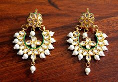 Kundan Earring – Desically Ethnic #Desicallyethnic #Desi #Ethnic  #Vintage #Indian #Accessories #Shopnow #Onlineshopping #kundan #jewellery #jewelsofindia #earring