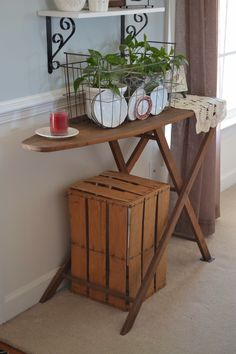 antique ironing board decorating - Google Search