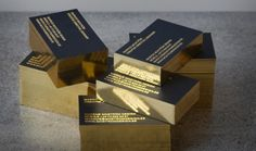 Beautiful Gold Edge Business Cards