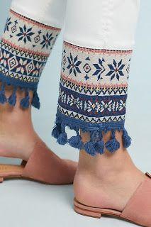 Arrival Summer Favorites Anthropologie Favorites: New Arrival Summer Favorites Kurti Sleeves Design, Sleeves Designs For Dresses, Kurta Designs Women, Blouse Designs, Fashion Pants, Fashion Dresses, Dope Fashion, Salwar Pants, Jeans Refashion
