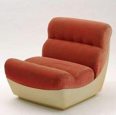 Otto Zapf; Lacquered Fiberglass Lounge Chair, 1960s.