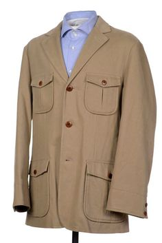 BROOKS BROTHER Outerwear Patch Pocket Hunting Field Jacket Coat Mens MEDIUM #BrooksBrothers #BasicJacket