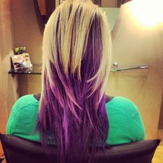 Purple and Blonde Hair | Blonde and Purple Hair, (joico indigo) | h